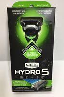 Schick Hydro 5 SENSE RAZOR Sensitive Skin with 2 Cartridges ADJUSTABLE New