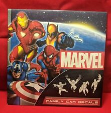 2X LOT MARVEL SUPERHERO FAMILY CAR DECALS 50 DECALS NEW - SEALED PACK