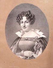 Lot de 7 lithographies,Portraits de Comédiens, vers 1830
