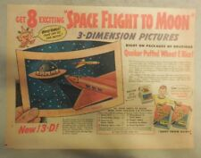 "Quaker Cereal Ad: ""Space Flight To Moon"" Premium from 1940's 7  x 10 inches"