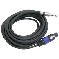 """Pyle PPSJ50 12 AWG Speakon to 1/4"""" Speaker Cable 50 ft."""