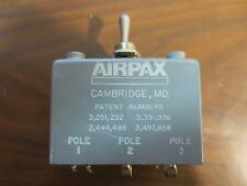 Airpax 8127-AP400, 240V, 400 Hz,  Toggle Switch