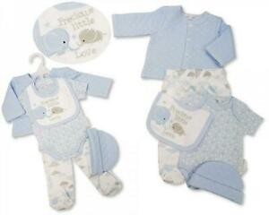 Baby Boys Quilted 5 pcs Layette Gift Set Precious Little Love - BNWT blue white