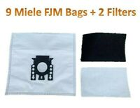 9 Bags for Miele FJM Synthetic Vacuum Cleaner Bag + 2 Filters