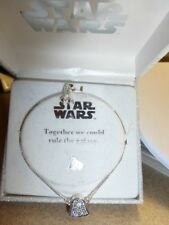 NIB Silver Clear Rhinestones STAR WARS Adjustable Bracelet-Kohl's Org. $50.00