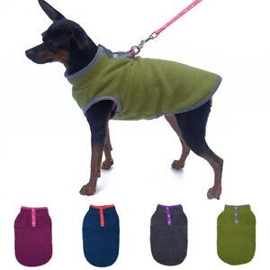 Dog Cat Fleece Sweater Pet Buckle Hoody Multicolor Clothes Vest Tops Coat Blouse