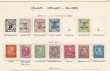 ISLAND ICELAND MOUNTED MINT AND USED STAMPS  ON PAGES CAT £400+  REF 5186