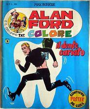 ALAN FORD COLORE ANNO I N.2 1979 COMPLETO DI POSTER CORNO BUNKER FUMETTO