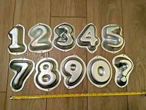 Wilton Mini Birthday Cake Numbers Baking Pans - 0 1 2 3 4 5 6 7 8 ?- FULL SET