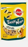 Pedigree Tasty Minis Dog Treats Cheesy Nibbles with Cheese & Beef 140g..20 11 21