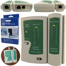 RJ45 CAT6 CAT5e INTERNET ETHRENET NETWORK CABLE TESTER LAN PC WIRE TESTING TOOL
