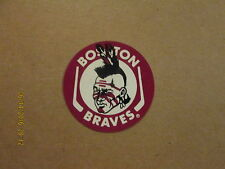Ahl Boston Braves Vintage Defunct Logo Hockey Sticker