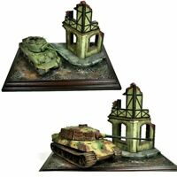 1:35 Scale Dioramas Models Ruins House Models Wood Foam Assembly Military NEW