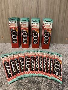 Festive Glowing Swizzle Bracelets Christmas 1x Box = 12 Packs Glow Sticks Party