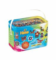 Hama Beads 10,000 Beads and 5 Pegboards Tub 1 Mixed