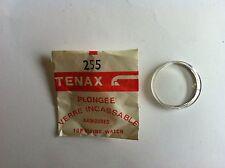 1 verre plongée plexi  armé chromé TEMAX pièce MONTRE HORLOGERIE vintage  n°255