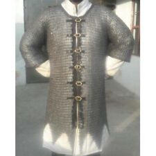 Chainmail Shirt Flat Rivited With Warser Mediveal Armour Shirt Medium Size Oiled