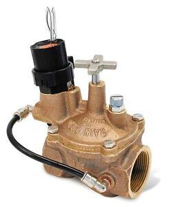 "Rainbird 150EFBCP 1-1/2"" 1.5""  Brass Electric Sprinkler Valve"