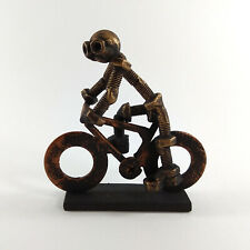 Metal cyclist bicycle model recycled art gift for coach cyberpunk loft sport