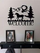 WELCOME & Horse & Mountains Wall Sticker Wall Art Decor Vinyl Decal