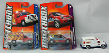 3 Matchbox Vans,08 FORD E 350 AMBULANCE,12 TRANSIT,02 AMBULANCE McD. Promo.