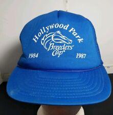 Hollywood Park breeders cup horse race 1984 1987 blue  hat cap mesh snapback