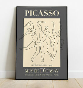 Picasso Wall Art Print, Pablo Picasso Wall Art, Exhibition Poster, Home Decor,