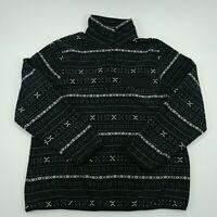 Jachs Cabin Mens Black Long Sleeve Floral Shirt Button Up Size Large