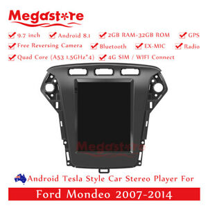 """9.7"""" Android 10.1 Tesla Style Head unit Car Player GPS For Ford Mondeo 2007-2014"""