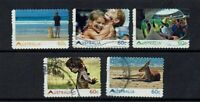 AUSTRALIA DECIMAL...2011 LIVING AUSTRALIAN...SET OF 5...GOOD USED