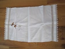 "Tatted Lace Towel Antique 17""x26"""