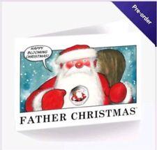 2018 Gibraltar Christmas 50p Christmas Card Beautiful Coloured Father Christmas