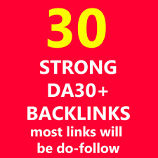 Backlinks HIGH DA30+ Authority Links Do Follow Get Seo Best PA Pr Google Website