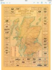 Scotch Whisky Map EN SEPIA. 1902