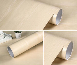 Beige Wood Grain Waterproof Wallpaper Self Adhesive Peel and Stick Contact Paper