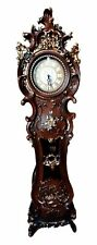 "Victorian Vintage Curvy Great Grandfather Clock Adjustable Chime Settings 73""H"