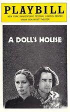 """Liv Ullmann """"A DOLL'S HOUSE"""" Sam Waterston / Judith Light 1975 Preview Playbill"""