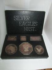 1969 19.5 oz Silver Eagles Nest Art Bars Hercaimy Walla Walla Washington w box