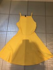 Gorgeous yellow summer dress H&M size 8 immaculate
