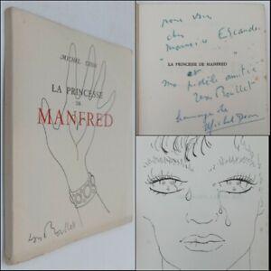 MICHEL DÉON La princesse de Manfred EO 1/490ex. DOUBLE ENVOI BOULET & DÉON. RARE