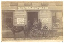 Cabinet Photo of Early Storefront- F.P. McFarland- Groceries & Provisions