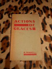 Actions de grâces - B. Maraux - Apostolat de la prière, 1952