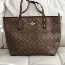 Genuine & Brand New COACH Leather Tote Zip Bag (F58292) Brown - RRP £395