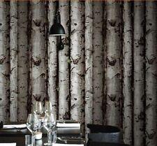 Nature Theme - 10M 3D Embossed Restaurant Wallpaper Roll Forest Tree Bark Wood