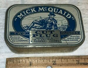 ANTIQUE TIN LITHO TOBACCO CAN #20 MICK McQUAID CUT PLUG TOBACCIANA VARIATION 1