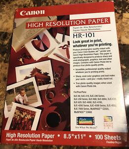 Canon High Resolution Paper, Matte, 8-1/2 x 11, White, 100 Sheets (CNM1033A011)
