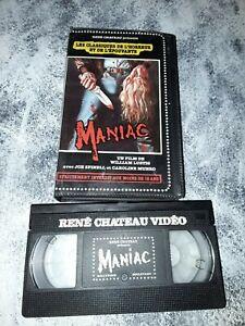VHS HORREUR RARE  MANIAC EDITIONS RENE CHATEAU