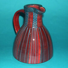 Pauline Zelinski Studio Pottery - Classic Wide Base with Vibrant Colours JUG