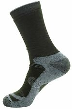 Wantdo Men's Full Cushion Wool Outdoor Ski/Hiking Socks, Army/Silver, US 10-13