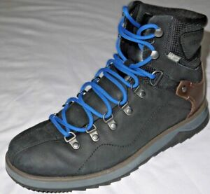 Mens EUC Black Leather MERRELL Select Dry Warm Hiking Boots size 8